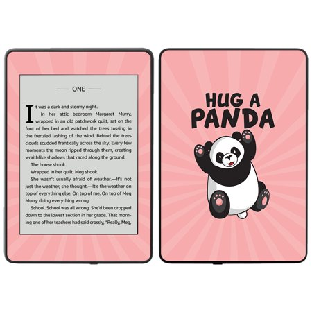 MightySkins Skin for Amazon Kindle Paperwhite 2018 (waterproof model) - Hug A Panda | Protective, Durable, and Unique Vinyl Decal wrap cover | Easy To Apply, Remove| Made in the USA