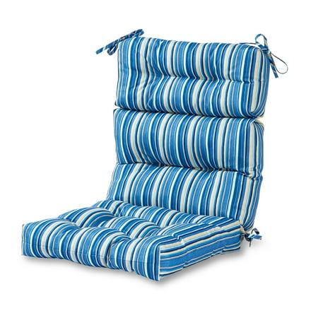 Greendale Home Fashions Coastal Stripe Outdoor High Back Chair -