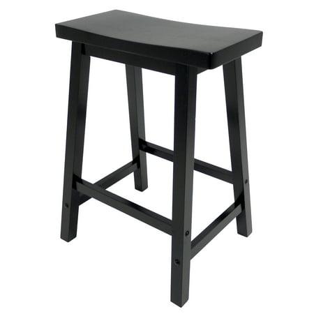 Winsome Wood Satori Saddle Seat Counter Stool 24 Quot Black
