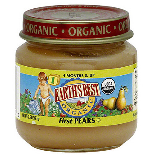 Earth's Best Organic: First Pears Earth's Best Organic 1, 2.5 Oz