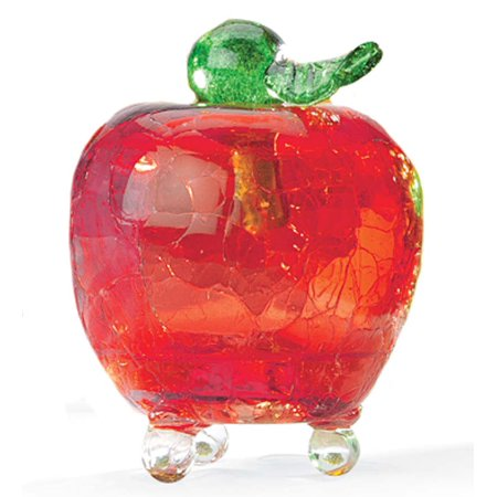 Handmade Crackle Glass Apple Fruit Fly Trap