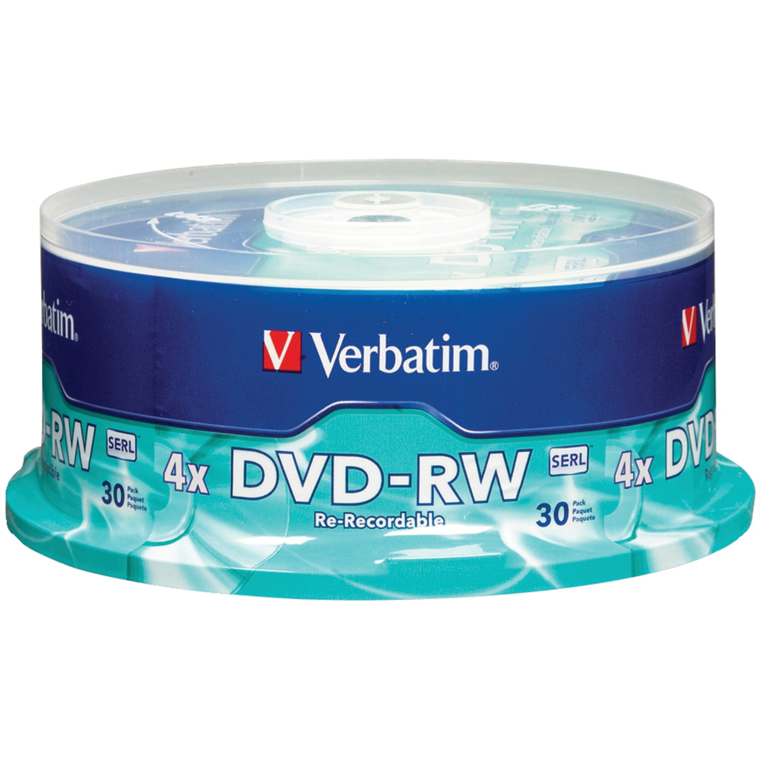 Verbatim 95179 4.7GB 120-Minute 4x DVD-RWs, 30-ct Spindle