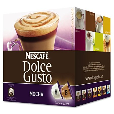 Nescafe Dolce Gusto Mocha Coffee Capsules Capsule - Compatible with Majesto Automatic Coffee Machine - Mocha, Cocoa, Arabica - 16 / Box (Dolce Gusto Coffee Premier Life)