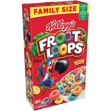 Kellogg's Froot Loops Breakfast Cereal, Fruit Flavored, 19.4 Oz
