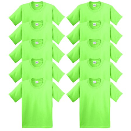 Gildan Heavy Cotton 100% Cotton T-Shirt, Pack of 10 for $<!---->