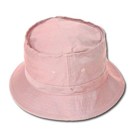 ffb73cb6 Plain Blank Bucket Fishing Hat, Sm/Med- Pink - Walmart.com