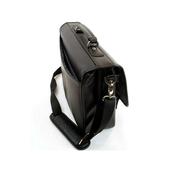 b48111a9ee1f Alpine Swiss - Leather Briefcase Laptop Case Messenger Bag  1 Year Mfg s  Warranty  - Walmart.com