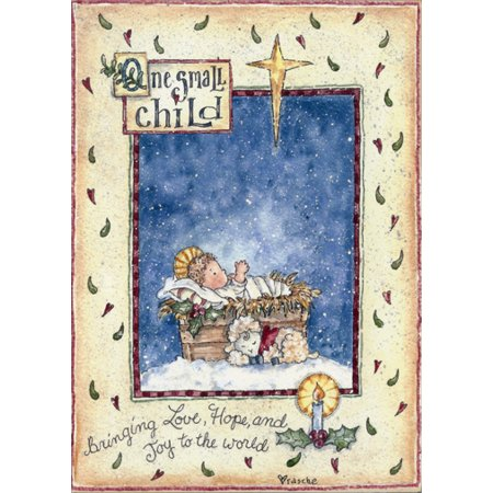 LPG Greetings One Small Child Religious Christmas Card ()
