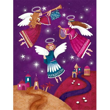 Christmas Angels in Purple Flag Garden Size - image 1 of 1