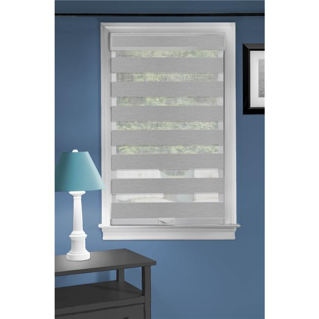 Achim CC3272GY02 32 x 72 in. Cordless Celestial Sheer Double Layered Shade, Grey - image 1 de 1