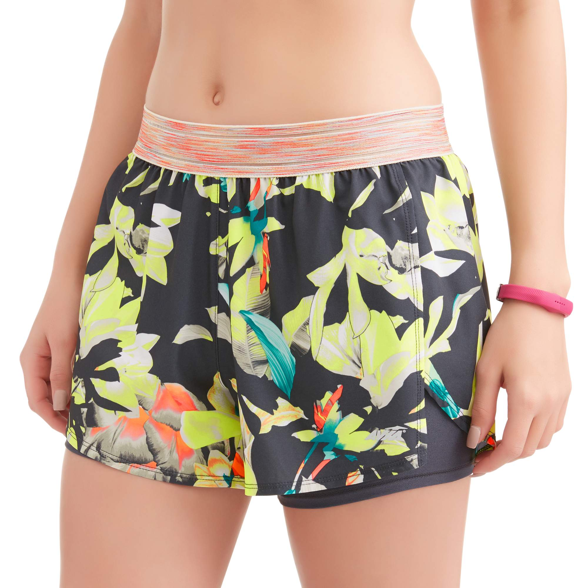 Women's Active 2Fer Running Short With Filament Waistband