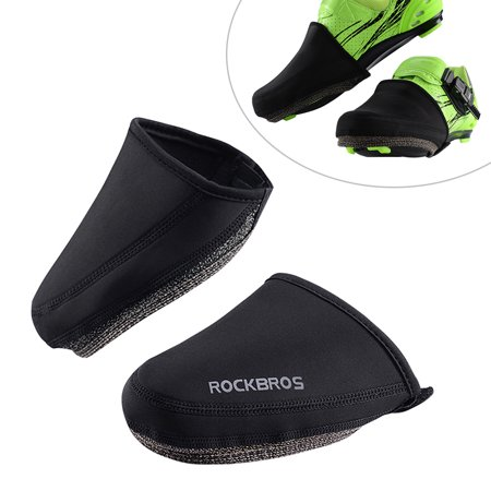 Winter Cycling Shoes Cover Windproof Waterproof Warm Riding Shoes Protector Half-Sole MTB Road Bike Cycling Cleated Shoes