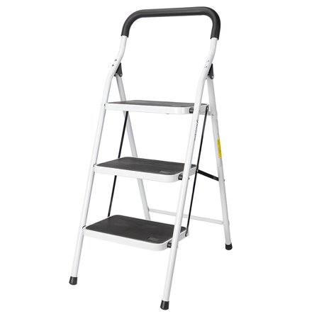 Folding Step Stool Ladder With Comfy Grip Handle Anti Slip