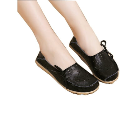 FLORATA Women's Driving Shoes Loafers Softness Natural Comfort Walking Flat Shoes Slip On Anti-skid