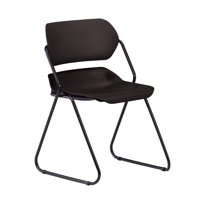 OFM Martisa Series Model 202 Plastic Stack Chair, Black with Black Frame, Pack of 4