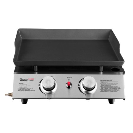 Royal Gourmet PD1201 2-Burner 17,000-BTU Portable Gas Grill Griddle, Outdoor Camping, Tailgating
