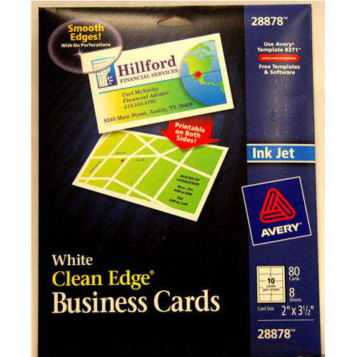 Avery Clean-Edge Business Cards, White, 80-Count