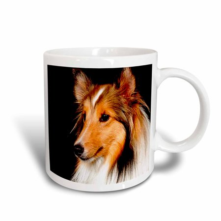 3dRose Sheltie Shetland SheepDog, Ceramic Mug, 15-ounce