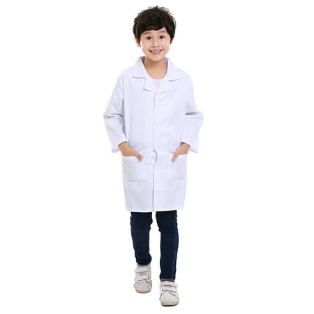 TopTie Kids White Lab Coat Child Costume for Scientists or Doctors (Superhero White Costume)