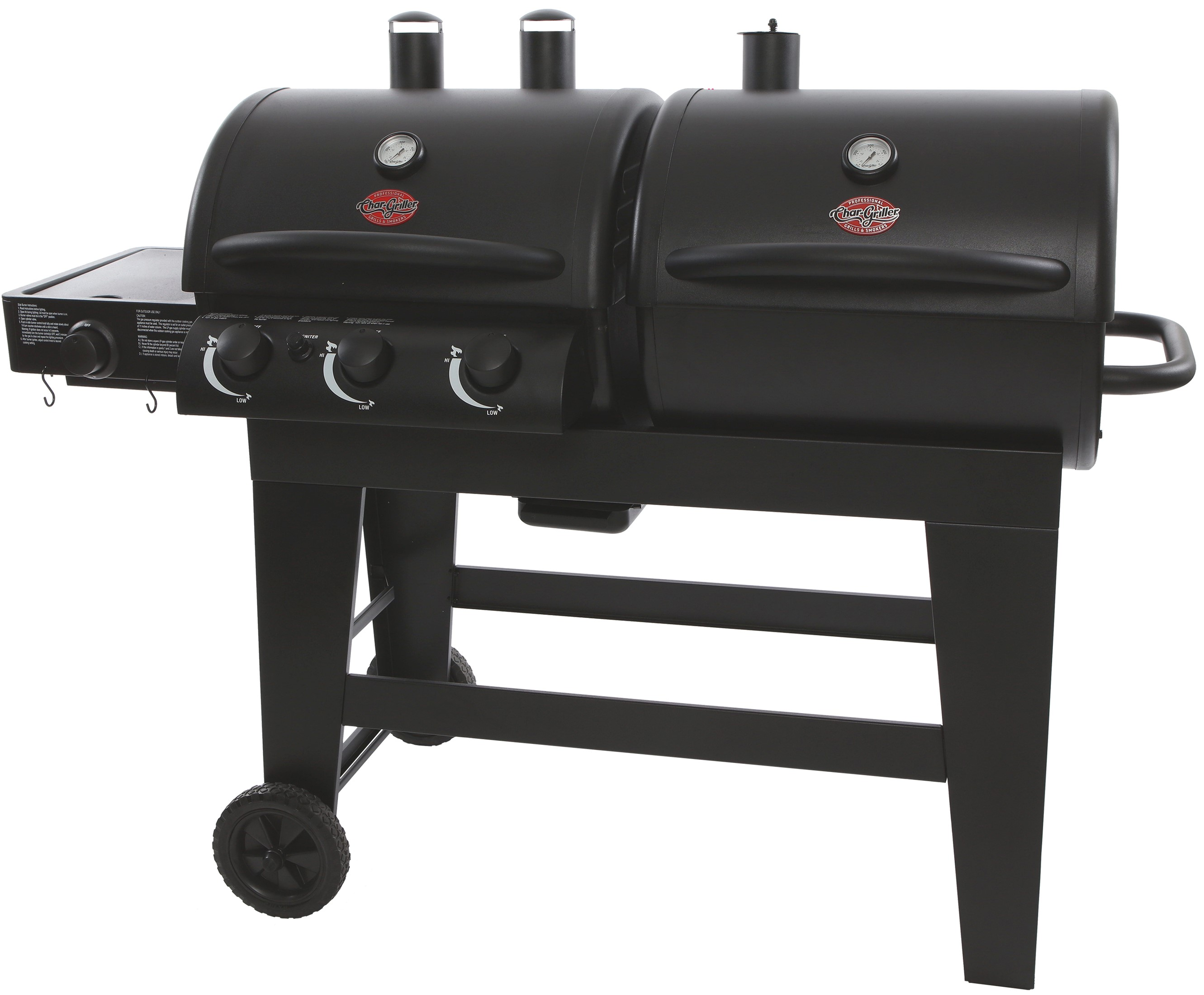 Char Griller Dual Function Gas Charcoal Grill Black E5072