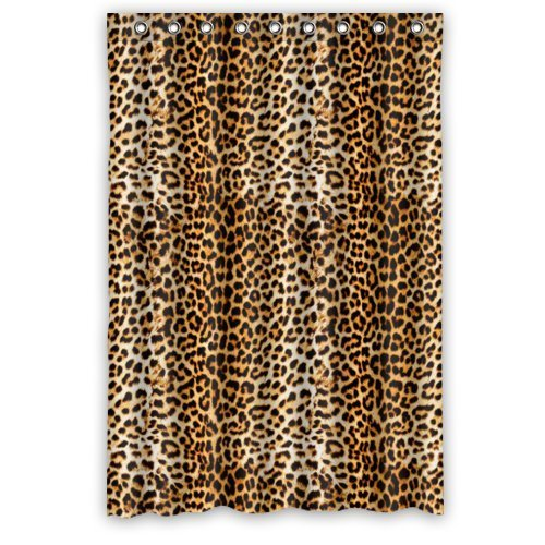 GreenDecor Cool Leopard Animal Art Printed Waterproof Shower Curtain Set with Hooks Bathroom Accessories Size 48x72 inches