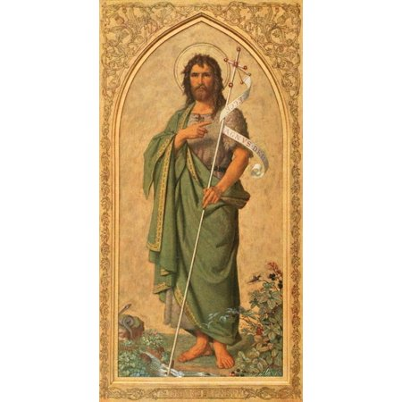 Christliche Kunst 14 1917 St John the Baptist Canvas Art - Franz...