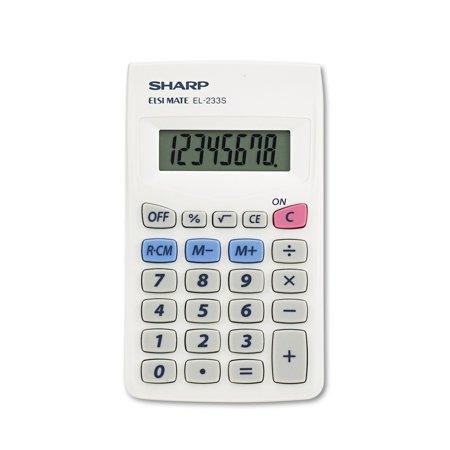 Sharp El233sb Pocket Calculator  8 Digit Lcd