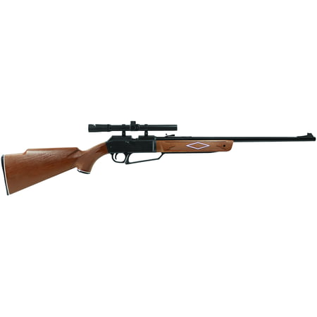 Black Semi Automatic Gun - Daisy Powerline 880 Air Rifle, .177 cal, with Scope