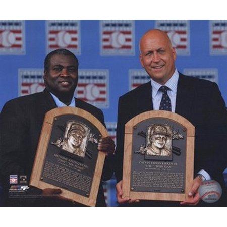 Ripken Jr Hall Of Fame - Tony Gwynn Cal Ripken Jr - 2007 Hall of Fame Induction Ceremony Sports Photo