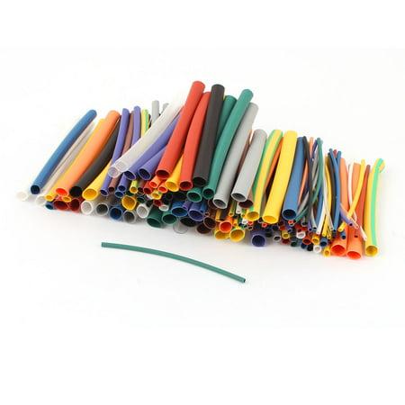 Heat Shrink Tubing Kit (Unique Bargains 144Pcs 2:1 Heat Shrink Wire Wrap Assortment Kit Tubing Cable Sleeve Tube 6 Sizes)