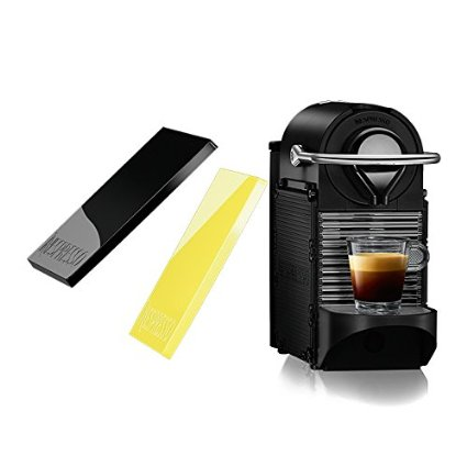 Click here to buy Nespresso Pixie Clips C60 Espresso Machine with Interchangeable Black and Lemon Neon Panels by Nespresso.