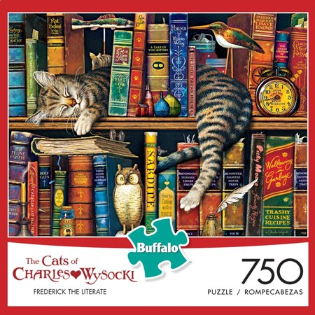 750 Piece Wysocki Cats  Frederick The Literate Puzzle