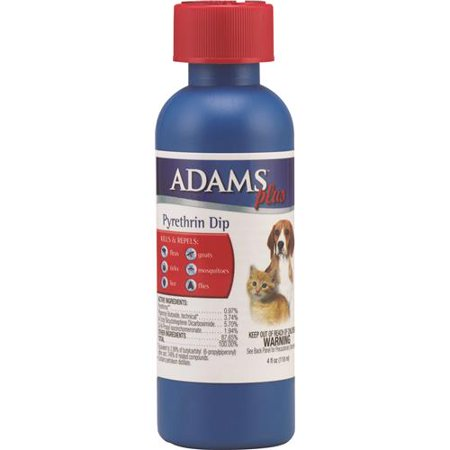 Adams Plus AD06017 Flea and Tick Pyrethrin Dip, 4 oz Bottle