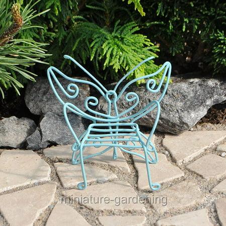 Miniature Butterfly Chair, Color Options for Miniature Garden, Fairy Garden