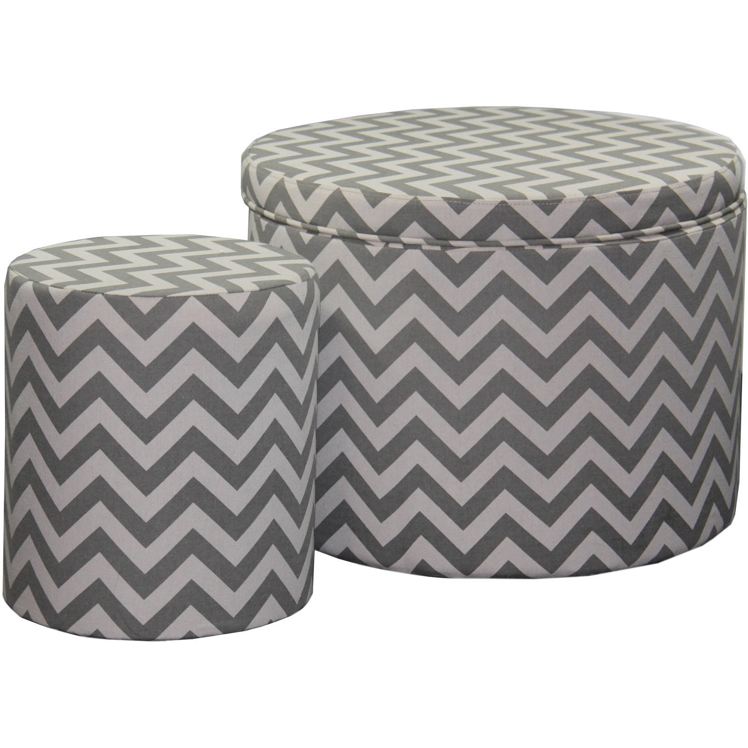 17.35 Chevron Storage Ottoman Plus Extra Seating