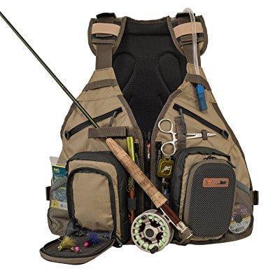 anglatech fly fishing backpack and vest combo with 1.5 li...