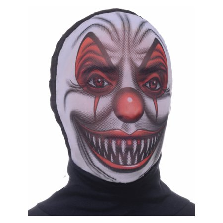 Adult Scary Evil Clown Costume Accessory Nylon Fabric Costume Mask