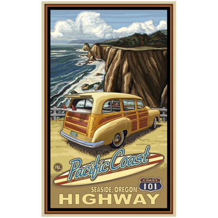 Seaside Oregon Pacific Coast Highway 101 Giclee Art Print Poster by Paul A. Lanquist (30