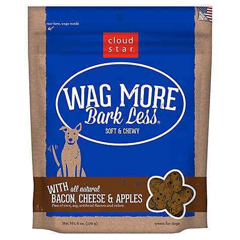 Cloud Star Wag More Bark Less Soft & Chewy Bacon, Cheese & Apples Dog Treats, 6 oz (pack of 1)