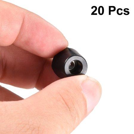 Pieds en caoutchouc pare-chocs coussin D14x11xH11mm Noir 20pcs - image 4 de 5