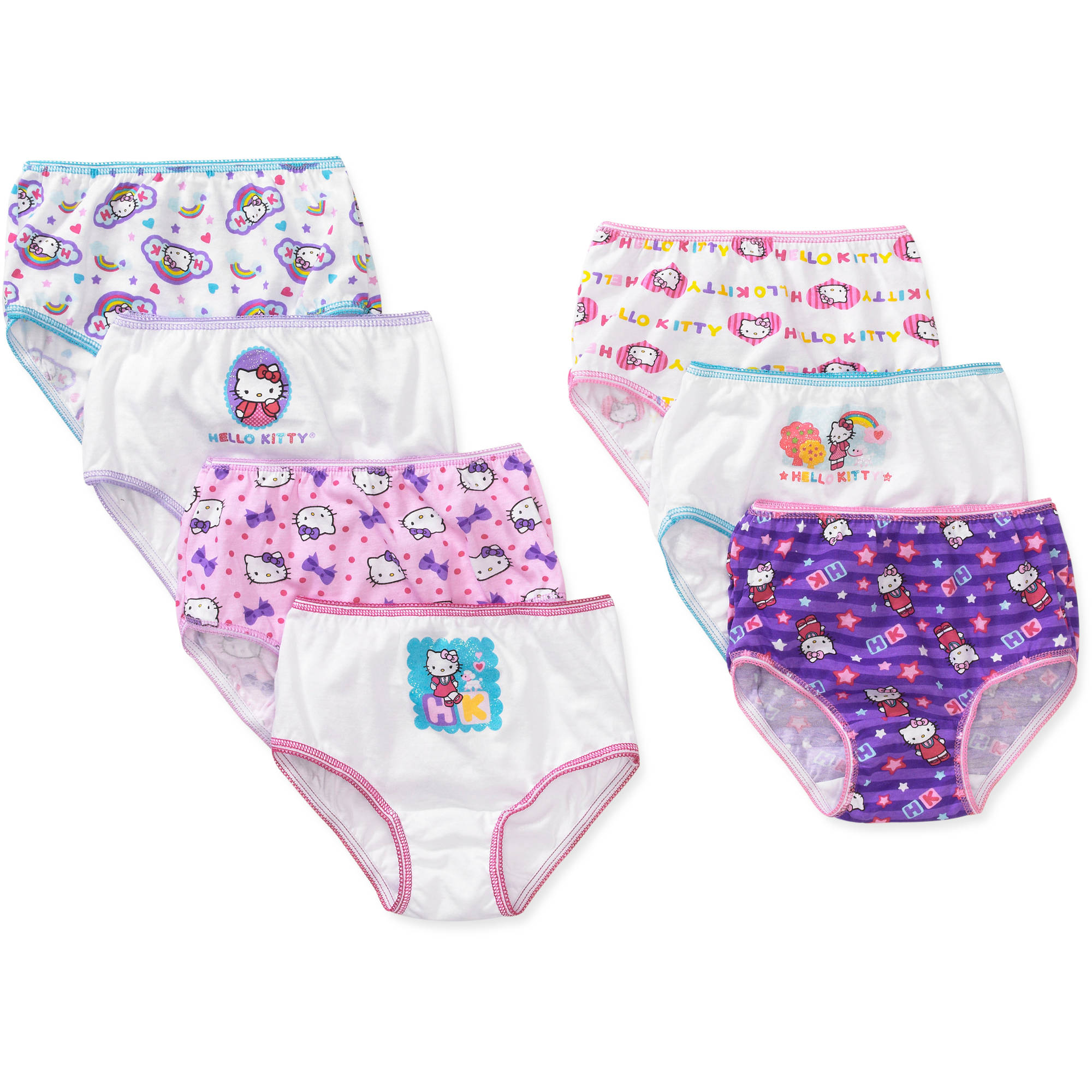 Hello Kitty Toddler Girl Underwear, 7-Pack