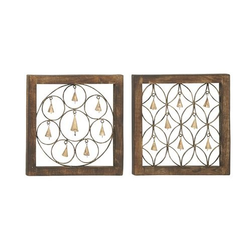 Woodland Imports 2 Piece Attractive Bell Wall d cor Set by Benzara Inc
