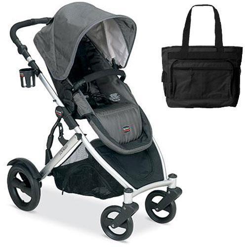Britax B-Ready Stroller - Slate with a Diaper Bag