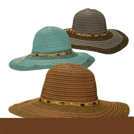 c1e57559f Dorfman Pacific 7499403 Assorted Colors Womens Hat - Ribbon Cloth ...