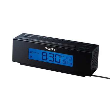 Large Lcd Display - Sony All in One AM/FM Dual Alarm Clock Radio with Soothing Nature Sounds & Large Easy to Read Backlit LCD Display