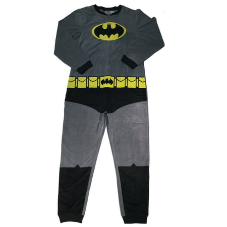 Batman Men's Gray Union Suit (Batman Suit)