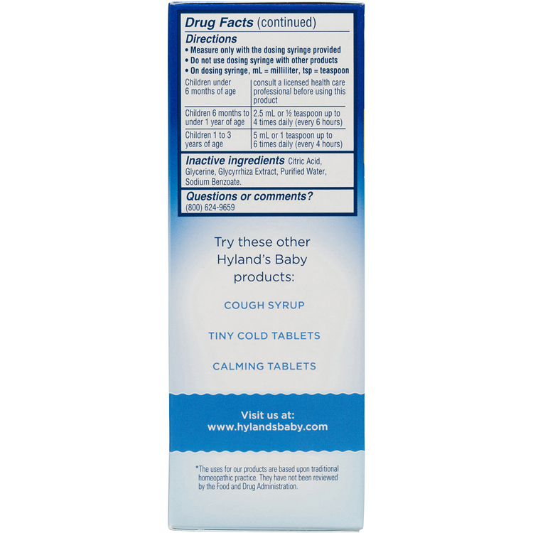 Hyland S Baby Nighttime Mucus Cold Relief Natural Of Congestion Occasional Sleeplessness Due To Colds 4 Ounces