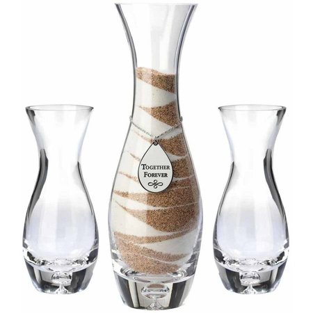 Set of 3 Unity Vases with Tag - Sand Ceremony Vases