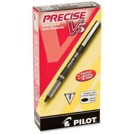 Pilot Precise V5 Extra-Fine Premium Capped Rolling Ball Pens, 1 Dozen (Quantity)