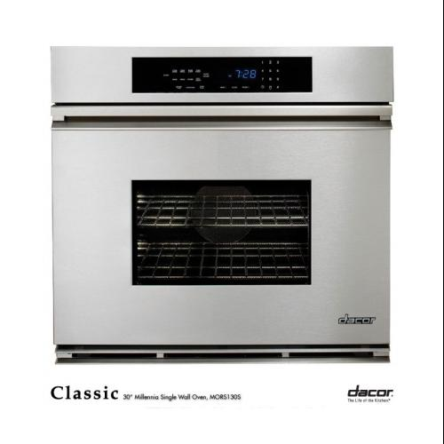 "Dacor  MORS130S Classic 30"" Millennia Single Electric Wall Oven with 3.9 cu. ft. Convection Oven  Self-Cleaning  6"